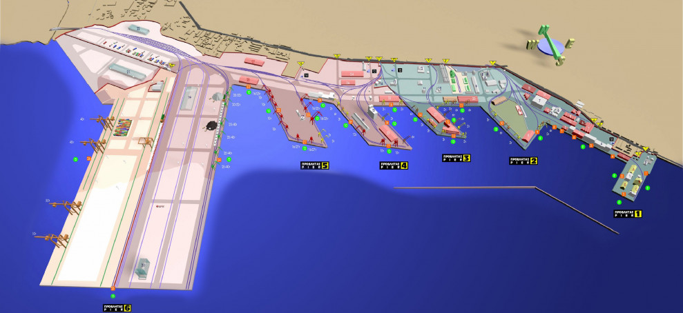 Map of Port